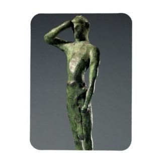 Man at prayer, Archaic Greek bronze sculpture some Rectangular Photo Magnet