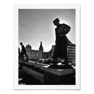 Man at Work Sculptures Photo Print