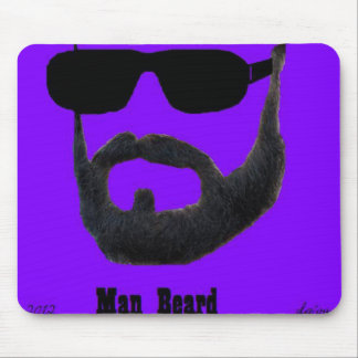 Man Beard custom mousepad  by: da'vy