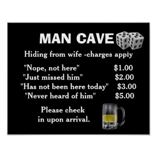 Man Cave art - poster print
