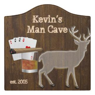 Man Cave Custom Acrylic Wall Plaque Door Sign