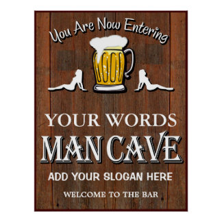 Man Cave Custom Bar Sign