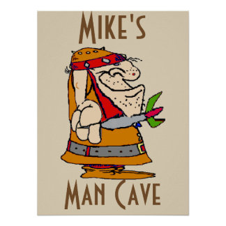 Man Cave, Dart Player Poster