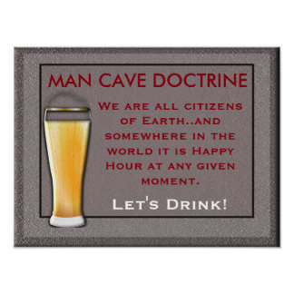 Man Cave Doctrine - print