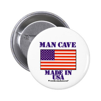 Man Cave Made in USA Button