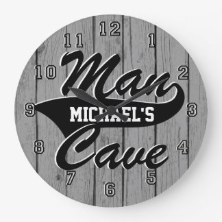 Man Cave Personalize Large Clock