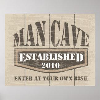 Man Cave Poster - EST 2010