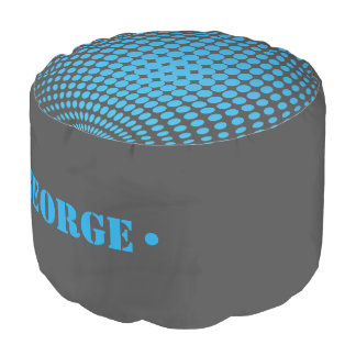 Man Cave Series: 3D Spheres with Dots Pouf
