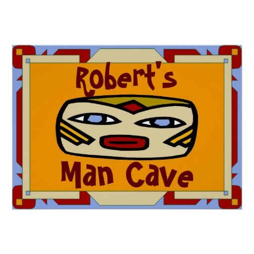 Man Cave Sign (edit name) Print