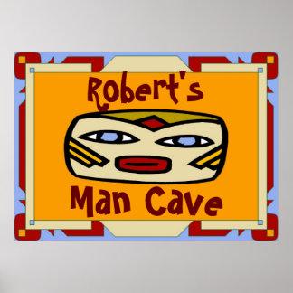 Man Cave Sign edit name Print