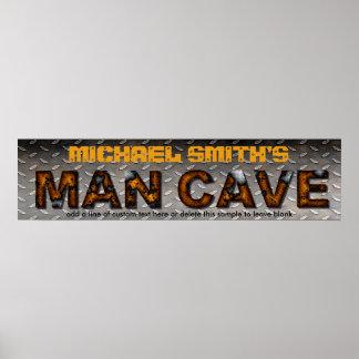 Man Cave Sign Sheet Metal Steel Customized