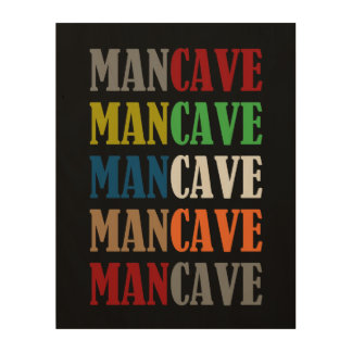 Man Cave Wood Canvas