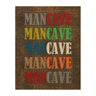 Man Cave Wood Canvases
