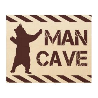 Man Cave Wood Print