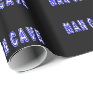 Man Cave Wrapping Paper