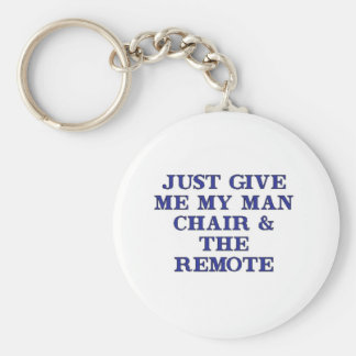 Man Chair & Remote Key Ring