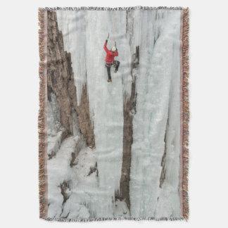 Man climbing ice, Colorado