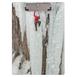 Man climbing ice, Colorado Clipboard