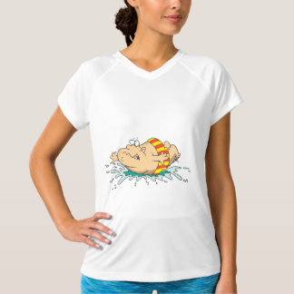 Man Doing A Belly Flop Womens Active Tee