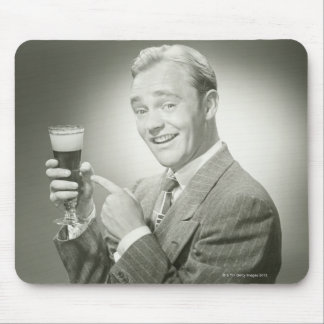 Man Drinking Mouse Pad