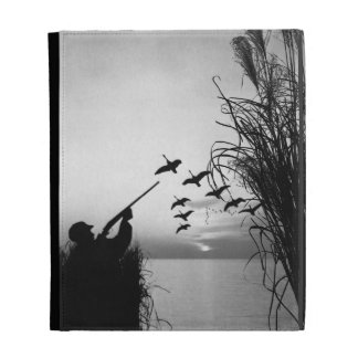 Man Duck Hunting iPad Case