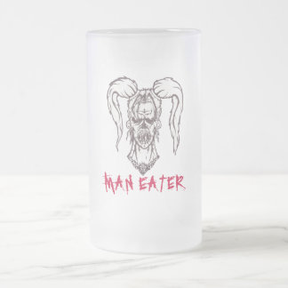 MAN EATER Tall Frosted Mug