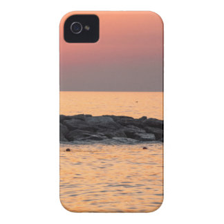 Man fishing at sunset iPhone 4 cover