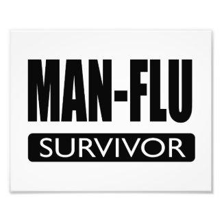 MAN-FLU SURVIVOR. PHOTO