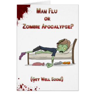 Man Flu zombie Card