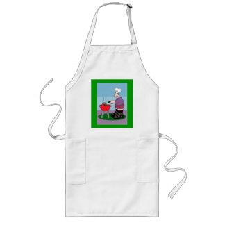 man grilling apron