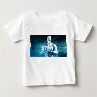 Man Holding Globe with Technology Industry Baby T-Shirt