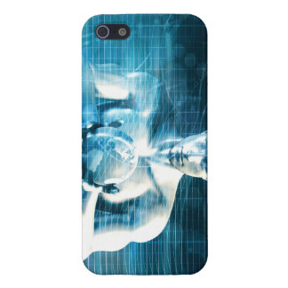 Man Holding Globe with Technology Industry iPhone 5/5S Covers