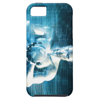 Man Holding Globe with Technology Industry iPhone 5 Cases