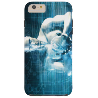 Man Holding Globe with Technology Industry Tough iPhone 6 Plus Case