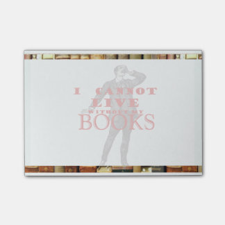 Man - I Cannot Live Without Books Post-it® Note