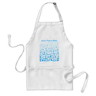 Man icons patterns only for manly men standard apron