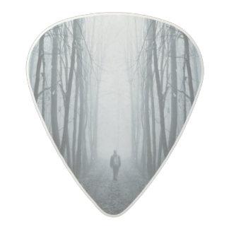 Man In A Dark Fantasy Forest Acetal Guitar Pick