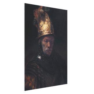Man in a Golden Helmet Canvas Print