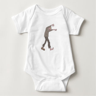 Man In A Suit Creepy Zombie With Rotting Flesh Out Baby Bodysuit