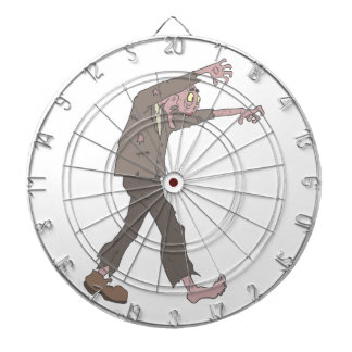 Man In A Suit Creepy Zombie With Rotting Flesh Out Dartboard