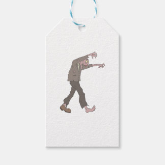 Man In A Suit Creepy Zombie With Rotting Flesh Out Gift Tags
