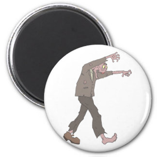 Man In A Suit Creepy Zombie With Rotting Flesh Out Magnet