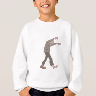 Man In A Suit Creepy Zombie With Rotting Flesh Out Sweatshirt