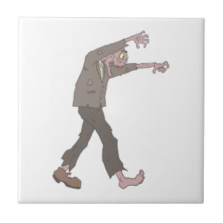 Man In A Suit Creepy Zombie With Rotting Flesh Out Tile