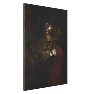 Man in Armor Canvas Print