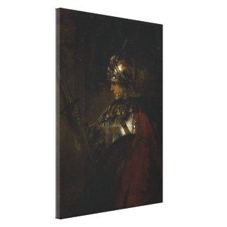 Man in Armor Canvas Print