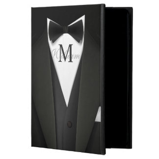 Man in Black Tuxedo Suit - Stylish Manly Monogram