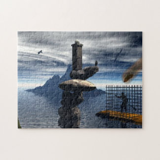 Man in Cage jigsaw Puzzle Jigsaw Puzzle
