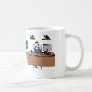 Man in office - customize coffee mug