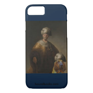 Man in Oriental Costume with Wimsey the Bloodhound iPhone 7 Case